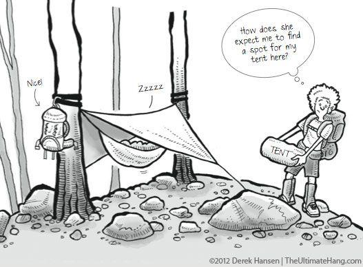 Hammocks > Tents. Especially on rocky terrain!