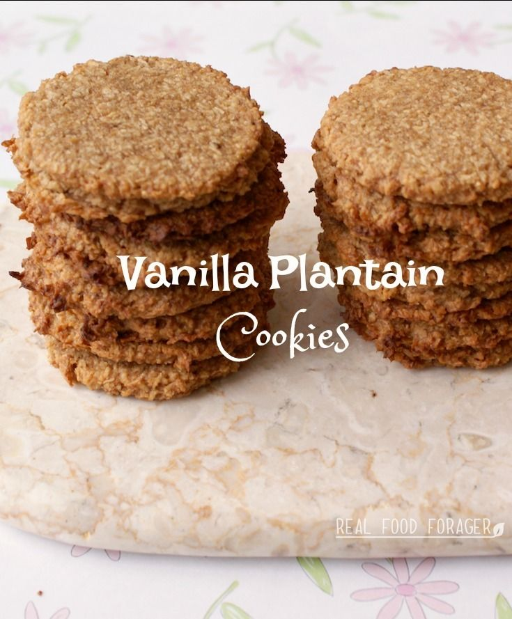 Recipe: Vanilla Plantain Cookies (Grain-free, Paleo, AIP). Egg-free plantain cookies are delicious!