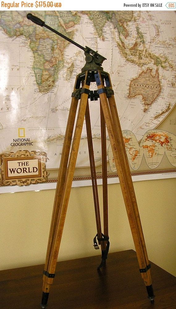 Reserved For Jay Ford Antique Wood Tripod Wwii Era