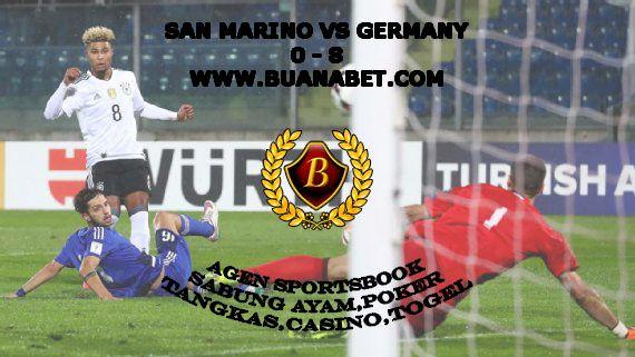 Serge Gnabry hat trick, Jerman vs San Marino.