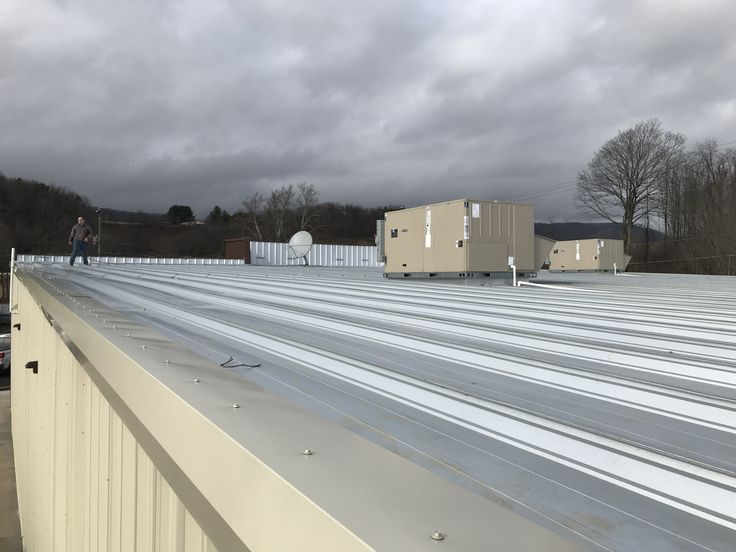 Working to install roof top antenna at the new Dollar General store in Sugar Grove VA!