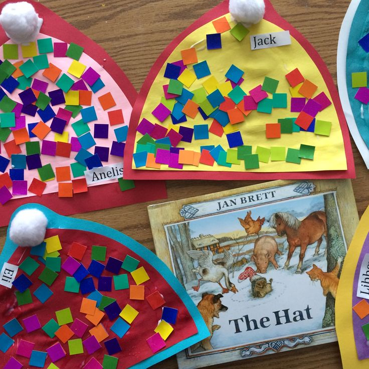 Sweet winter hat craft for kids to follow up The Hat by Jan Brett.