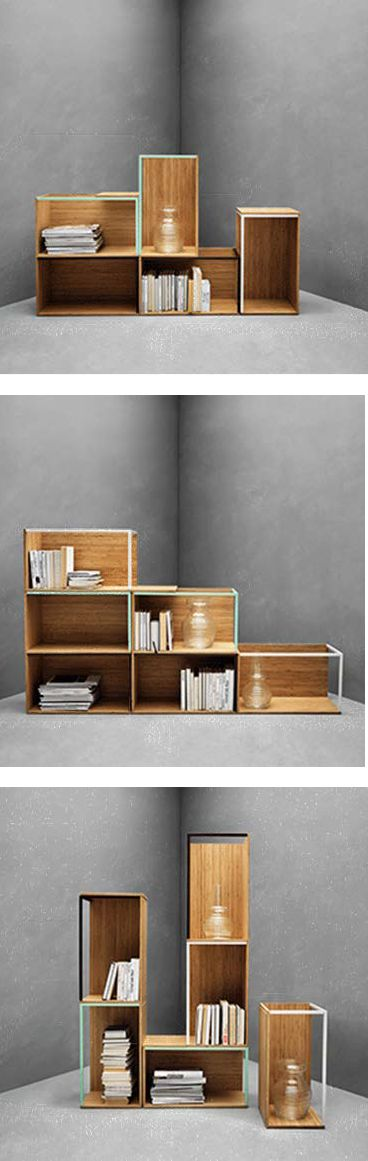 These PS 2014 modules are made from bamboo, a durable, renewable and sustainable material. Create your own unique combination for storage and display by combining modules and lids any way you like.