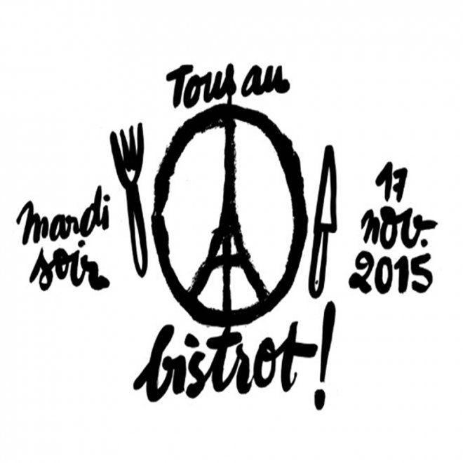 Logo de #TOUSAUBISTROT par le Guide du Fooding