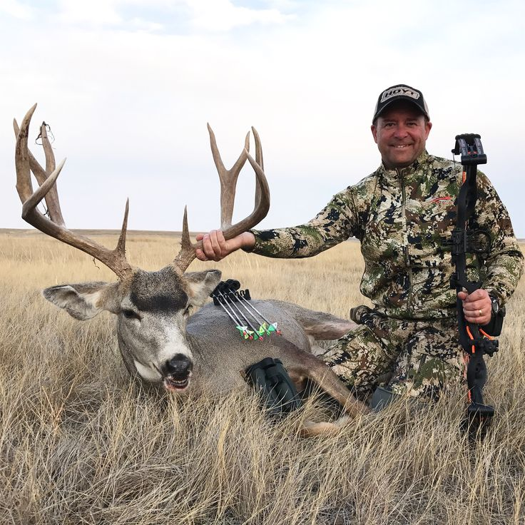 Outdoor writer, Kevin Wilson, with his 2017 Alberta archery mule deer. Taken with his Hoyt Carbon Defiant, Easton FMJ arrow and 100 grain G5 Montec CS. #KevinWilson #bowhunting #bowhuntingmuledeer #archeryhunting #muledeerhunting #KandHOutdoors @hoytbowhunting @SitkaGear @G5Outdoors @eastonarchery @scottarchery @WorldsBestStrings