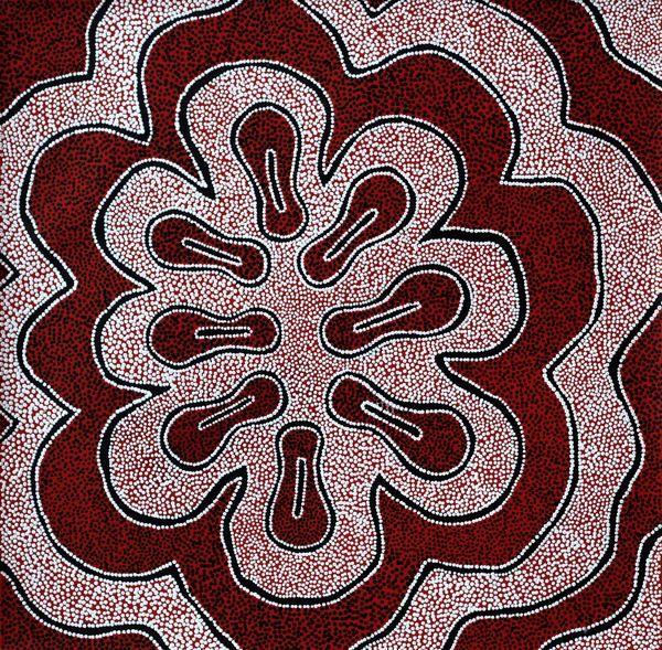 Antoinette Napanangka Brown, Mina Mina Jukurrpa (Mina Mina Dreaming) -  Ngalyipi, 46x46cm | Aboriginal Art  | Art Ark - 1