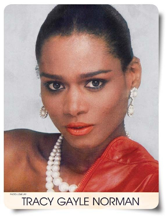 Tracey's model card from the Grace Del Marco agency, 1991, before she changed the spelling of her name.