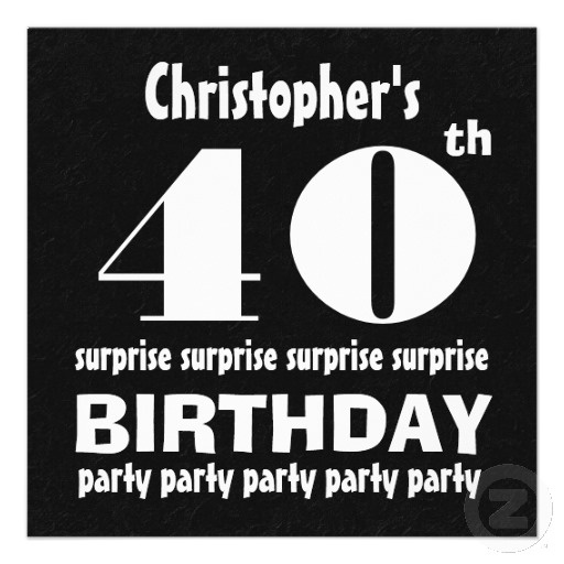 17 Best images about 40th Birthday Party Invitations – 40th Surprise Party Invitations