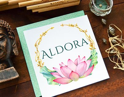 Aldora watercolor logo by Kateryna Savchenko