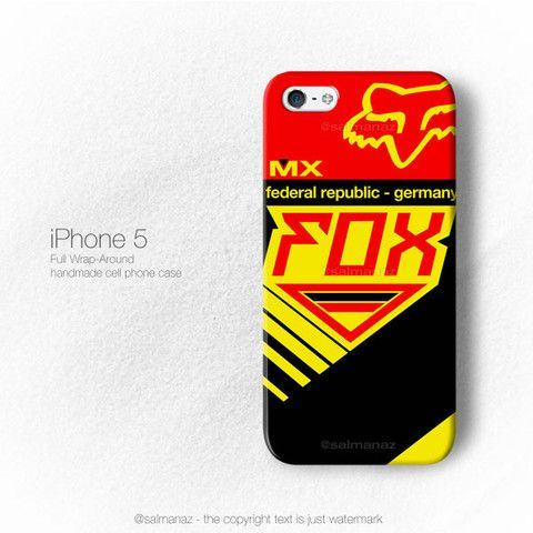 Fox MXON Germany Federal Republic Jersey iPhone 5/5s Case, iPhone 4/4s
