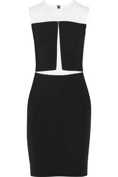 Narciso Rodriguez Paneled stretch-crepe dress   NET-A-PORTER
