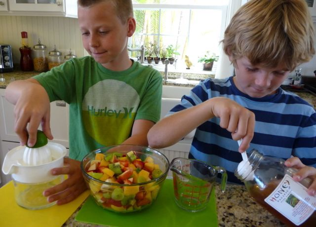 """Fruit salad - yummy, yummy!"" ... Whether you're well past the Wiggles days or not, making fruit salad with your kiddos is a FUN and simple way to teach your children some basic culinary skills, wh..."