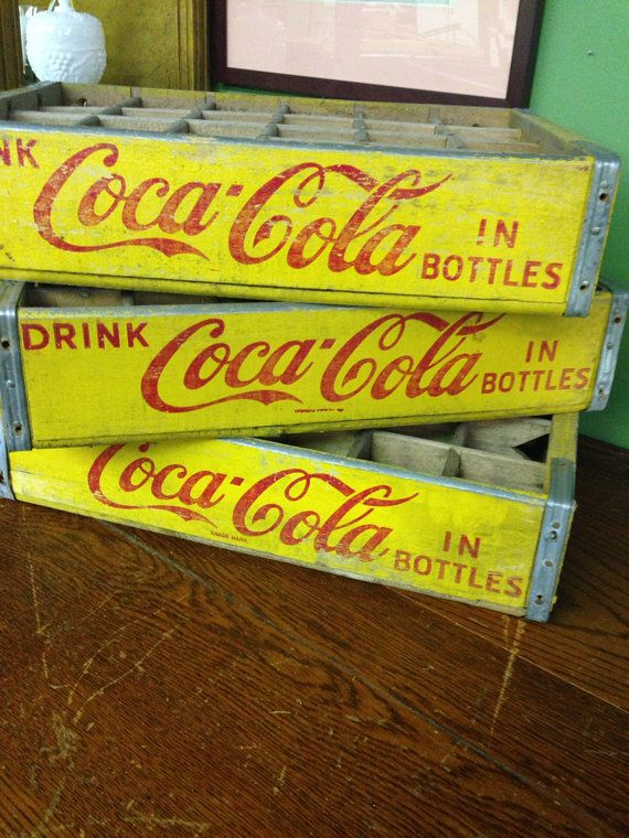 Vintage coca cola wooden rustic storage decorative bottle crate on Etsy, $24.00