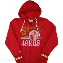 Mitchell & Ness San Francisco 49ers NFL Start Of Season Full Zip Hoody