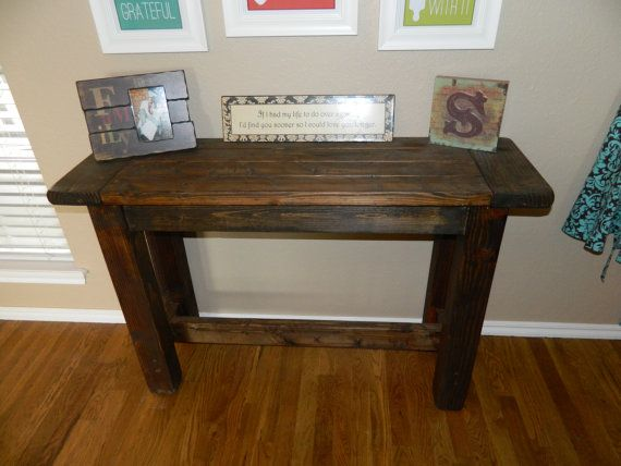 Rustic Farmhouse Style Console Table On Etsy 150 00