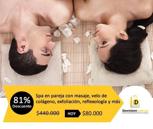 Disfruta de un momento romántico y relajante, recibe una sesión de spa en pareja que incluye masaje de relajación en Downtown.com.co