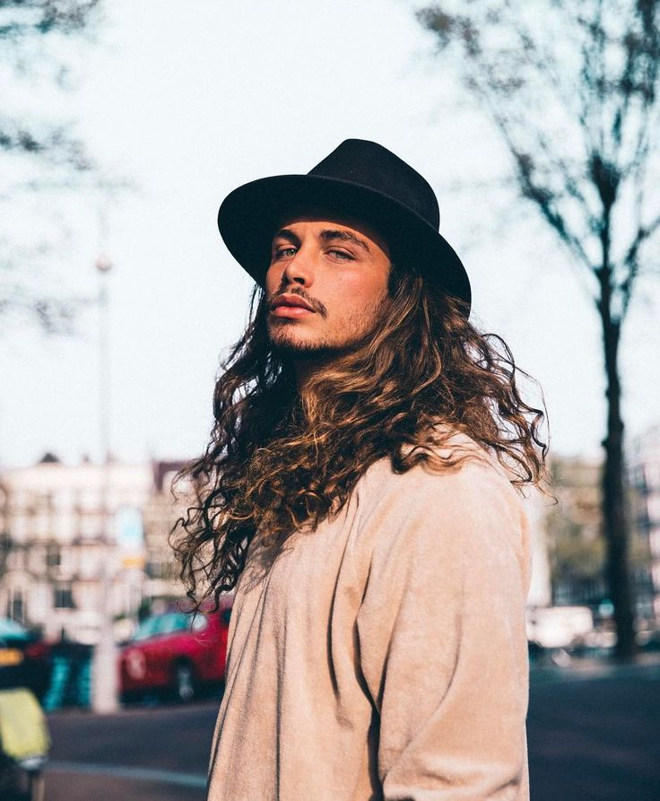 men with long curly hair / natural hair men / curls / free the curls / curls power