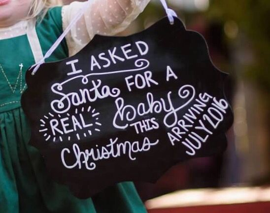 Big Sister Christmas Baby Announcement Chalkboard