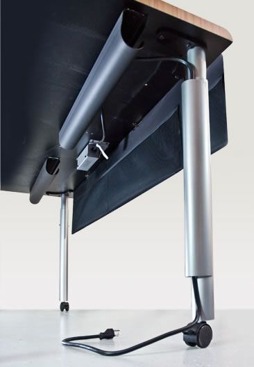 12 best computer adjustable tables images on pinterest adjustable snapchase leg wire manager and wire management modesty panel on cirrus adjustable table keeps wires out greentooth Gallery