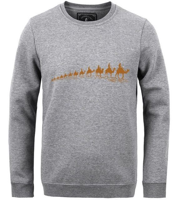 Autumn Winter Printed winter T shirt men clothing Fashion Male thick T shirt quality T shirt