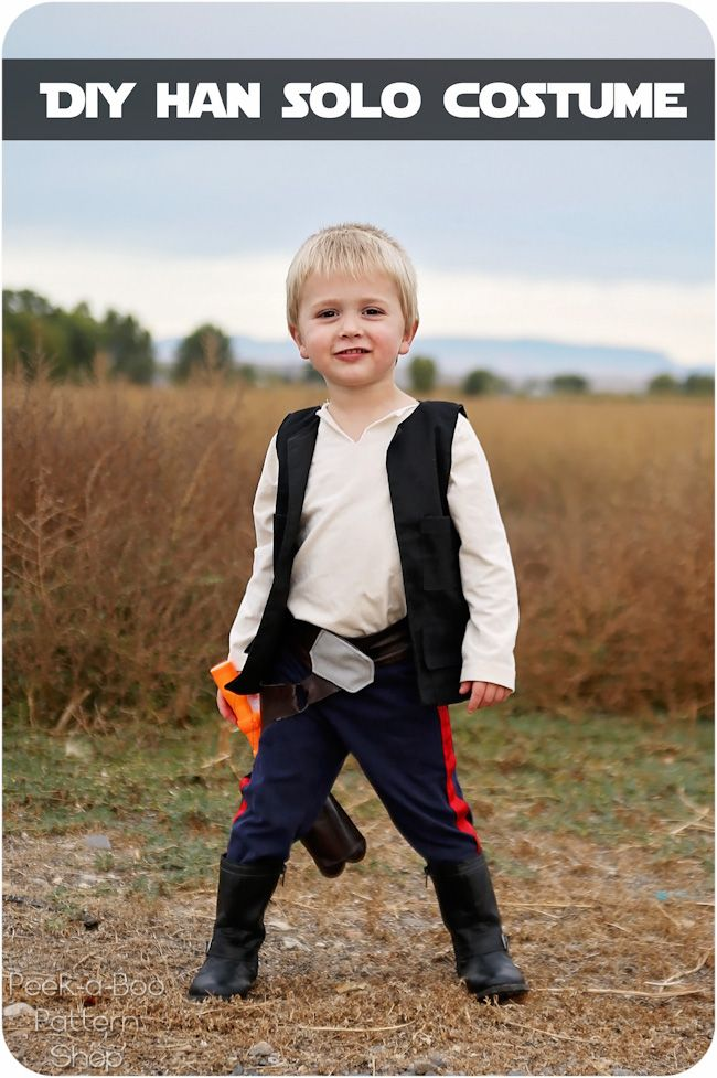 DIY Han Solo Costume - Peek-a-Boo Pages - Sew Something Special