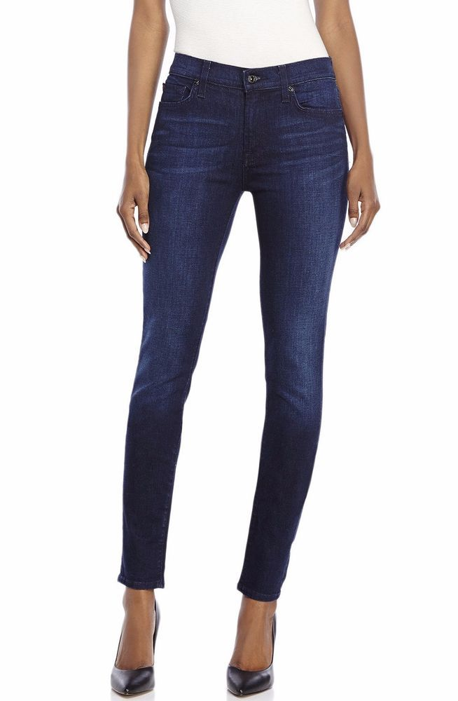 New Ladies 7 For All Mankind Gwenevere Stretch Skinny Jeans Size