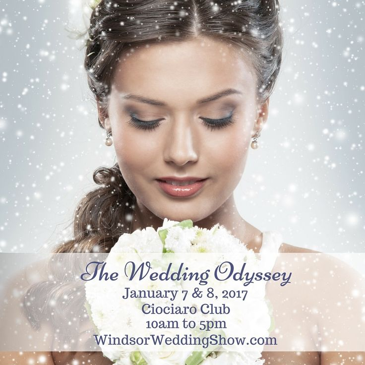 The Wedding Odyssey bridal expo taking place January 7 & 8, 2016 at Ciociaro Club.....Tecumseh Ontario......come on out to see local wedding experts all under one roof #WindsorWeddingShow