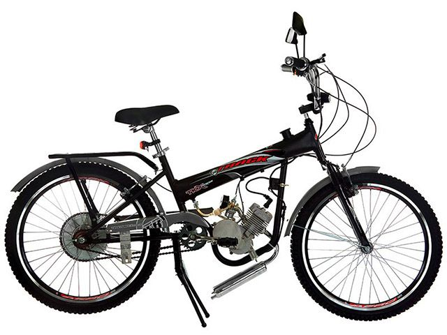 Bicicleta Motorizada Track & Bikes TkX POWER Aro 24 49CC Lanterna Traseira e Dianteira - Bicicleta Elétrica ou Motorizada