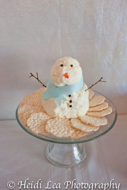 snowman cheese balls - too cute!