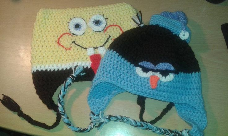 sponge bob square and owl hat - spongya bob és bagoly sapka