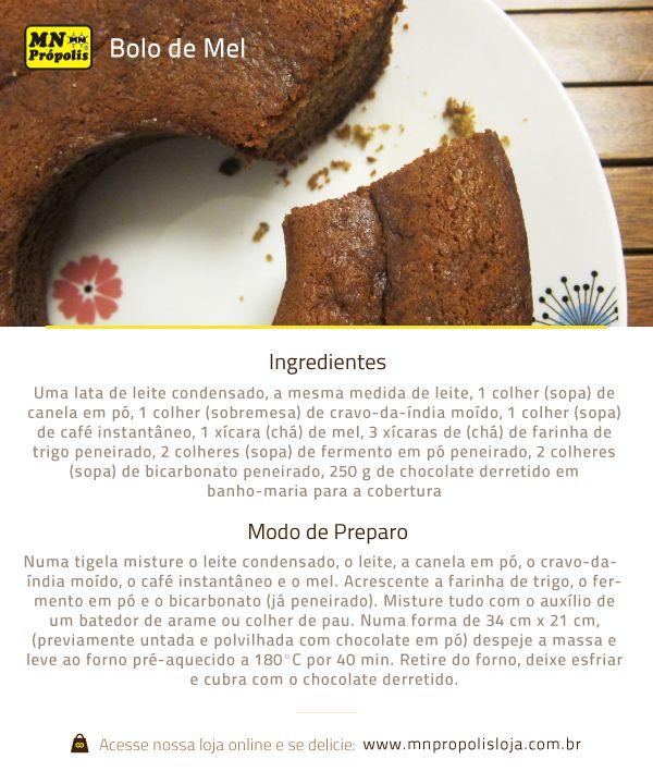 Hoje nós trouxemos uma receita saborosa, rápida e fácil, pra te deixar com água na boca e com muita vontade de correr pra cozinha!  Faça com o mel MN Própolis e se surpreenda com esse sabor:www.mnpropolis.com.br/