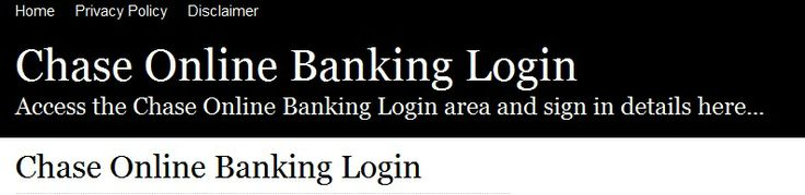 Secure Login | Access the Chase Online Banking login here. Secure user login to Chase Online Banking. To access the secure area for Chase Online Banking you must proceed to the login page.