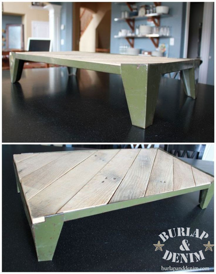 Vintage Industrial Tabletop Tray Made From Junk {Dumped U0026 Found}