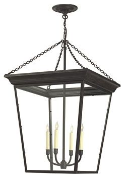 """36"""" LARGE CORNICE HANGING LANTERN. This would totally make a huge statement. But a little bit more price wise."""