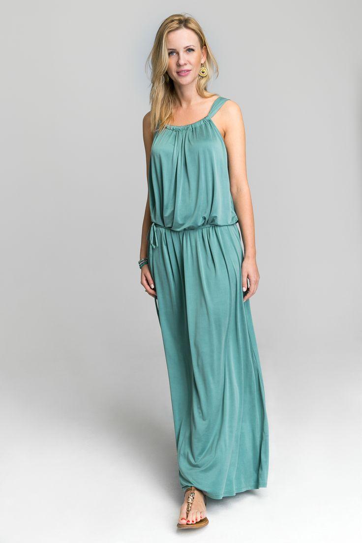 Tourquoise cupro Dress  #maxidress #elegantdress #fashion