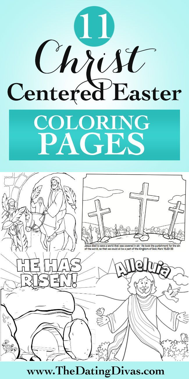 Free printable Easter coloring pages that tell the story of the last days of Jesus