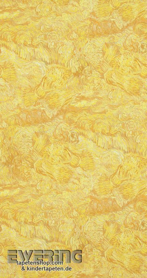 35 besten van gogh bn tapeten bilder auf pinterest for Tapete gelb gestreift