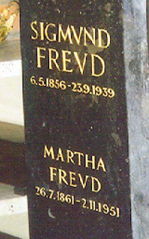 Sigmund Freud's gravesite in Golders Green Mausoleum in London, England.