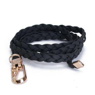 Women Ladies Braid Thin Narrow Skinny Wide Waist Belt Waistband Hogskin Leather Buckle at Banggood
