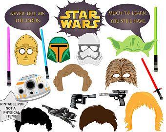 """Star Wars partij Photo Booth Props: Verjaardag van de """"SPACE WARS PROPS"""" Star wars Star wars photobooth, partij photobooth, star wars afdrukbare rekwisieten"""