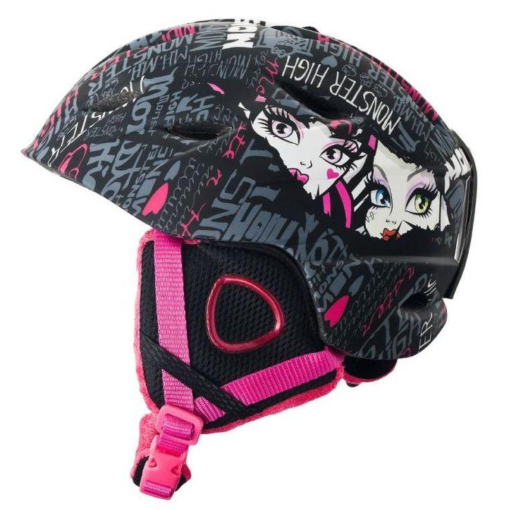 Kask z motywem Monster High. Przeznaczony do narciarstwa, snowboardu, jazdy na łyżwach i sankach.
