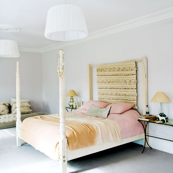 House to home bedrooms feminine bedroom white four poster bed white carved four poster bed - Bedspreads for four poster beds ...