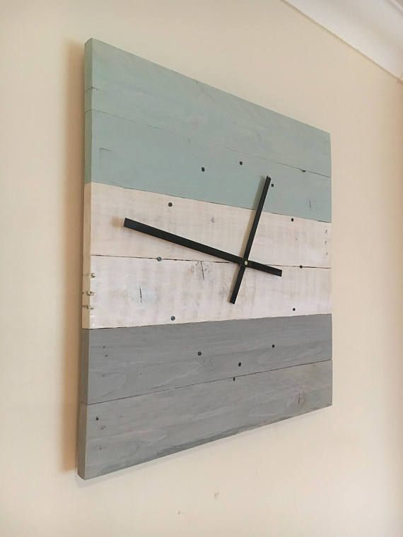 Wall Clock Wooden Wall Clock Reclaimed Wood Wall Clock ...
