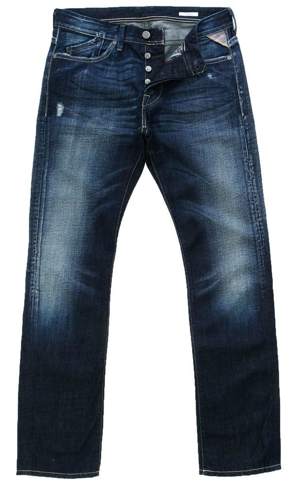 Replay Jeans Mijag 904 Regular Slim 29 x 34 Cotton Denim New Authentic