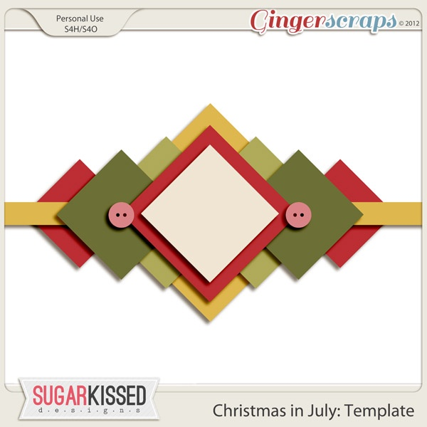 Christmas in July Scrap & Chat with Sugar Kissed Designs 10pm EST, Wednesday 7/25/12: July Scrap, Digi Stash, 10Pm Estes, Kiss Design, Christmas In July, Design 10Pm, Digital Scrapbook, Skd 10Pm, July Templates