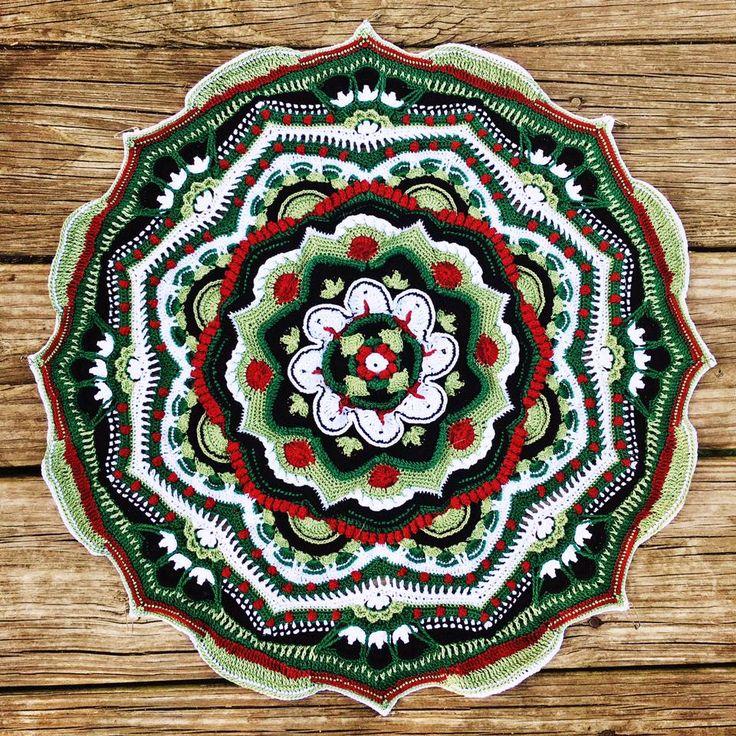 Mejores 758 im genes de mandalas tejidos a crochet en for Tejido persa