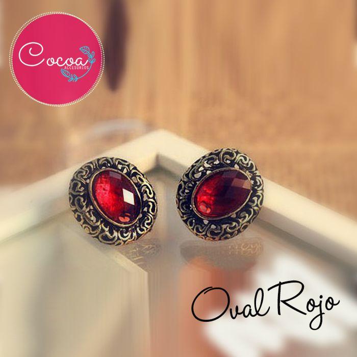 Si el rojo es tu color favorito, seguro estos pendientes deben estar en tus manos! Precio $4.000 CO  #Cocoaccesorios #accesorioscocoa #accesoriosParaMujer