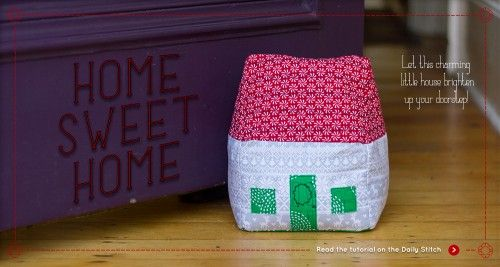 Forest Poppy's little house door stop tutorial on The Village Haberdashery blog.