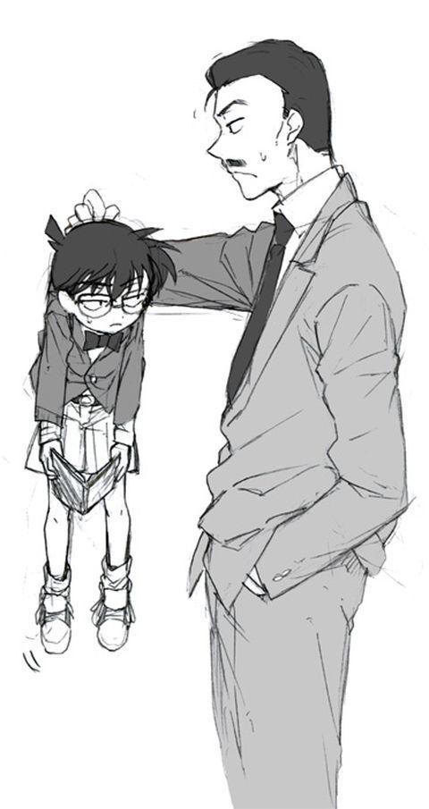 Kogoro and Conan