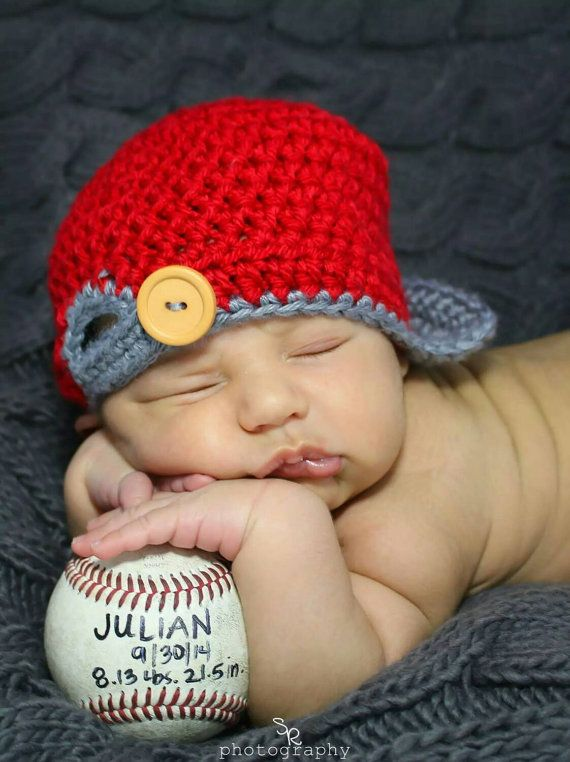 Hey, I found this really awesome Etsy listing at https://www.etsy.com/listing/210089930/baby-crochet-baseball-cap-crochet